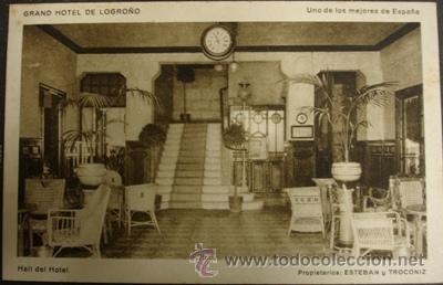 LOGROÑO GRAND HOTEL - HALL DEL HOTEL (Postales - España - La Rioja Moderna (desde 1.940))