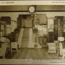 Postales: LOGROÑO GRAND HOTEL - HALL DEL HOTEL . Lote 27876518