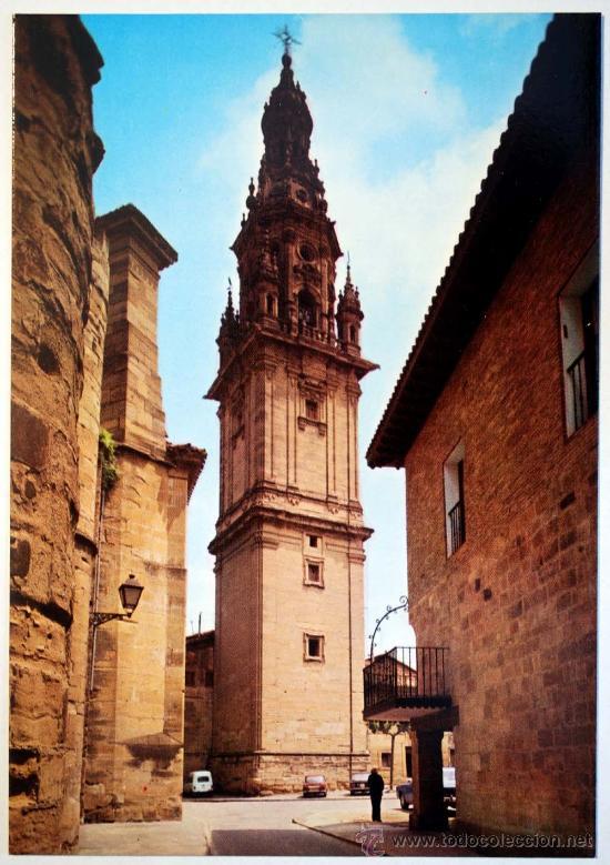 LOGROÑO. SANTO DOMINGO DE LA CALZADA. TORRE DE LA CATEDRAL. (Postales - España - La Rioja Moderna (desde 1.940))