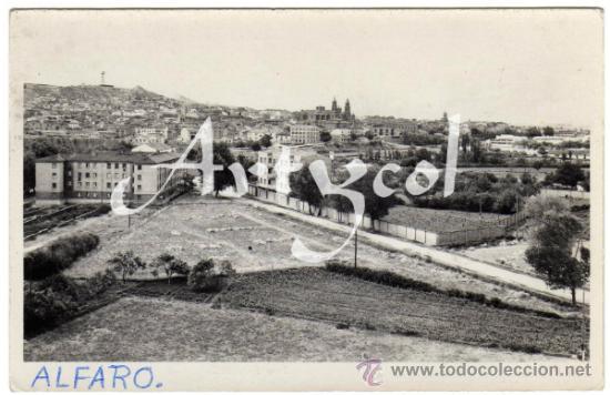 BONITA Y RARA POSTAL - ALFARO (LOGROÑO) - VISTA PARCIAL DE LA POBLACION (Postales - España - La Rioja Moderna (desde 1.940))