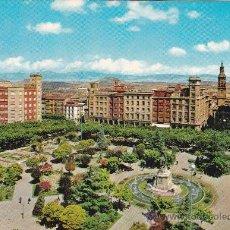 Postales: 196 LOGROÑO PASEO DE ESPOLON Y JARDÍN (ESCRITA) . Lote 31292853