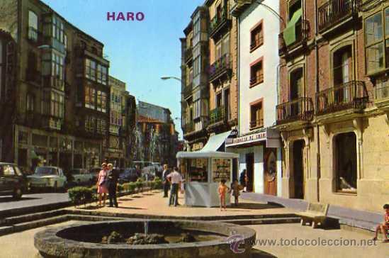 HARO Nº 312 CALLE VICTOR PRADERA Y FUENTE ED. PARÍS ESCRITA CIRCULADA SELLO (Postales - España - La Rioja Moderna (desde 1.940))