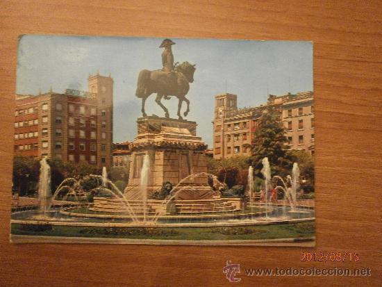 POSTAL LOGROÑO ESTATUA DEL GENERAL ESPARTERO ESCRITA (Postales - España - La Rioja Moderna (desde 1.940))