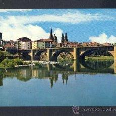 Postales: POSTAL DE LOGROÑO: PUENTE DE PIEDRA SOBRE EL EBRO (G.GARRABELLA NUM. 12). Lote 33339862