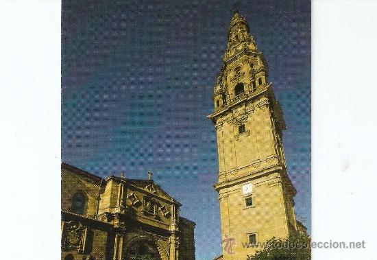 SANTO DOMINGO DE LA CALZADA - PLAZA DEL SANTO - FACHADA CATEDRAL -TORRE EXENTA (Postales - España - La Rioja Moderna (desde 1.940))