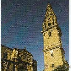 Postales: SANTO DOMINGO DE LA CALZADA - PLAZA DEL SANTO - FACHADA CATEDRAL -TORRE EXENTA. Lote 33771165