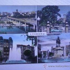 Cartoline: LOGROÑO - LA RIOJA - DIVERSAS VISTAS - AÑOS 60 - POSTAL COLOREADA. Lote 34248863