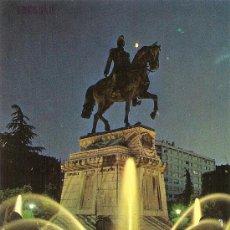 Postales: LOGROÑO, ESTATUA DEL GENERAL ESPARTERO, NOCTURNA - EDICIONES PARIS - ESCRITA. Lote 34299191