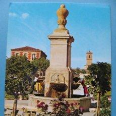 Postales: POSTAL DE LA RIOJA. AÑO 1974. CASALARREINA, PLAZA GENERALÍSIMO, FUENTE, NIÑOS. 440. . Lote 36030018