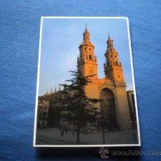 Postales: POSTAL LOGROÑO CATEDRAL IGLESIA LA REDONDA TORRES GEMELAS NO CIRCULADA. Lote 36292076