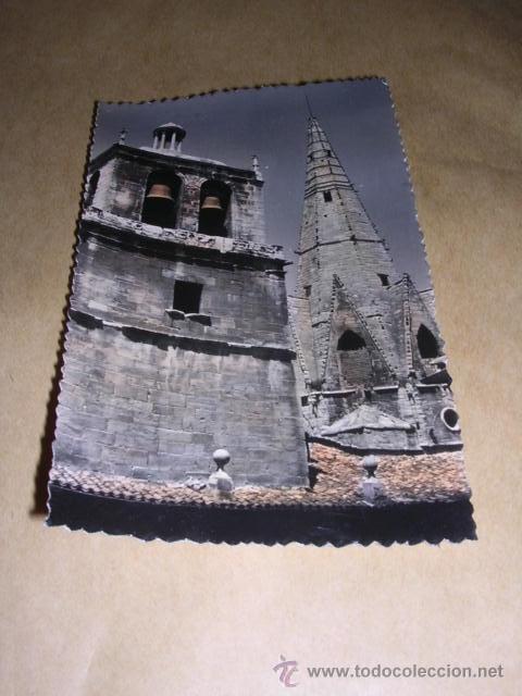 LOGROÑO 25 - SANTA MARIA DE PALACIO TORRE DE AGUJA EDC. SICILIA CIRCULADA ILUMINADA CON ANILINAS 14X (Postales - España - La Rioja Moderna (desde 1.940))