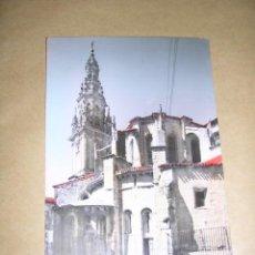 Postales: 10 S. DOMINGO DE LA CALZADA , TORRE Y ABSIDE DE LA CATEDRAL ,EDC. MONTAÑES , POSTAL ILUMINADA CON AN. Lote 37898604