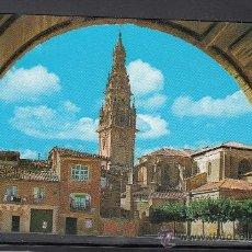 Postales: 7467.- SANTO DOMINGO DE LA CALZADA. VISTA GENERAL Y TORRE DE LA CATEDRAL. Lote 38097310