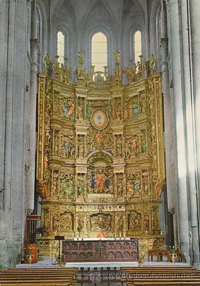 SANTO DOMINGO DE LA CALZADA, LA CATEDRAL, RETABLO, EDITOR: INTER-BURGOS Nº 3 (Postales - España - La Rioja Moderna (desde 1.940))