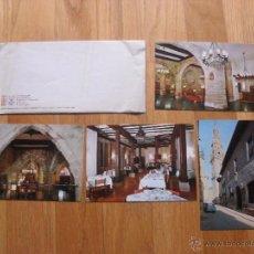 Postales: LOTE 4 POSTALES PARADOR NACIONAL + SOBRE. Lote 40408469