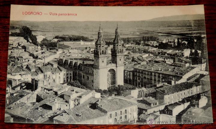 LOGROÑO. VISTA PANORAMICA. HIJOS DE MERINO. SIN CIRCULAR (Postales - España - La Rioja Moderna (desde 1.940))