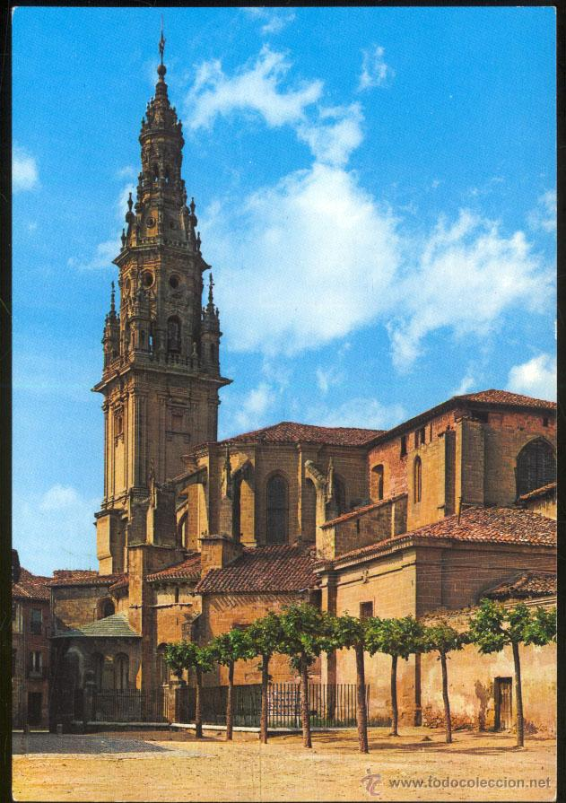 4- SANTO DOMINGO DE LA CALZADA.- TORRE Y ÁBSIDE DE LA CATEDRAL. (Postales - España - La Rioja Moderna (desde 1.940))