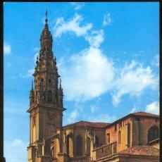 Postales: 4- SANTO DOMINGO DE LA CALZADA.- TORRE Y ÁBSIDE DE LA CATEDRAL.. Lote 41875065