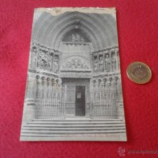 Postales: ANTIGUA POSTAL DE LOGROÑO PORTADA DE SAN BARTOLOME LIBRERIA GENERAL IMPRENTA SANTOS OCHOA N/E N/C. Lote 42197966