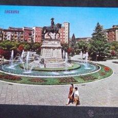 Postales: LOGROÑO-V24-Nº494- FUENTE DEL GENERAL ESPARTERO. Lote 43144793