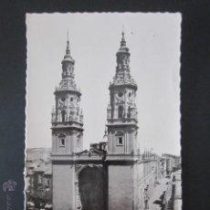 Postales: POSTAL LA RIOJA. LOGROÑO. CATEDRAL DE SANTA MARIA DE LA REDONDA. . Lote 43544886