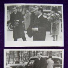Postales: 2 FOTOS DEL GOBERNADOR CIVIL DE LOGROÑO (CON SOMBRERO) ACUDIENDO A UN ACTO INSTITUCIONAL. 1945. Lote 43932027