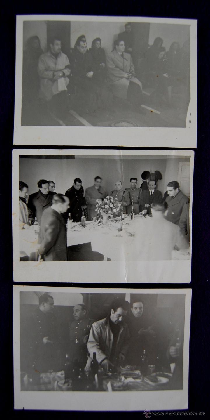 3 FOTOS DE ACTOS PROTOCOLARIOS EN LOGROÑO CON AUTORIDADES Y EL GOBERNADOR CIVIL BALLESTERO. 1945 (Postales - España - La Rioja Moderna (desde 1.940))