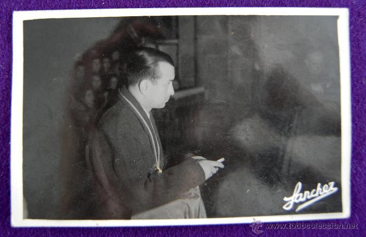POSTAL FOTOGRAFICA DE LOGROÑO. EL GOBERNADOR CIVIL DE LOGROÑO, LUIS MARTIN BALLESTERO. 1945 (Postales - España - La Rioja Moderna (desde 1.940))