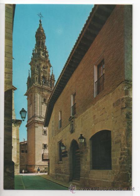 SANTO DOMINGO DE LA CALZADA Nº 7468 .- PARADOR NACIONAL Y TORRE CATEDRAL (Postales - España - La Rioja Moderna (desde 1.940))