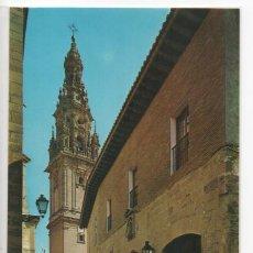 Postales: SANTO DOMINGO DE LA CALZADA Nº 7468 .- PARADOR NACIONAL Y TORRE CATEDRAL. Lote 45716371