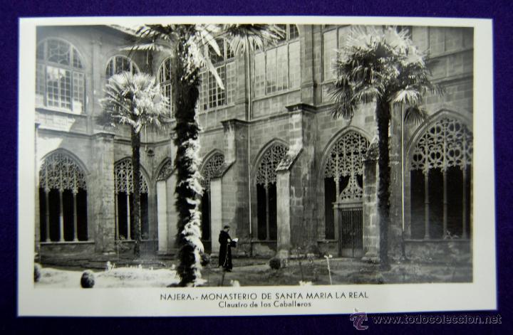 POSTAL DE NAJERA (LA RIOJA). MONASTERIO DE SANTA MARIA LA REAL. EDICIÓN MANIPEL. AÑOS 50 (Postales - España - La Rioja Moderna (desde 1.940))