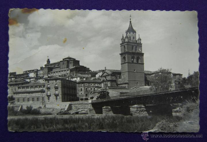 POSTAL DE CALAHORRA (LA RIOJA). Nº11 VISTA PARCIAL. EDIC GARCIA GARRABELLA-ZARAGOZA. AÑOS 50 (Postales - España - La Rioja Moderna (desde 1.940))