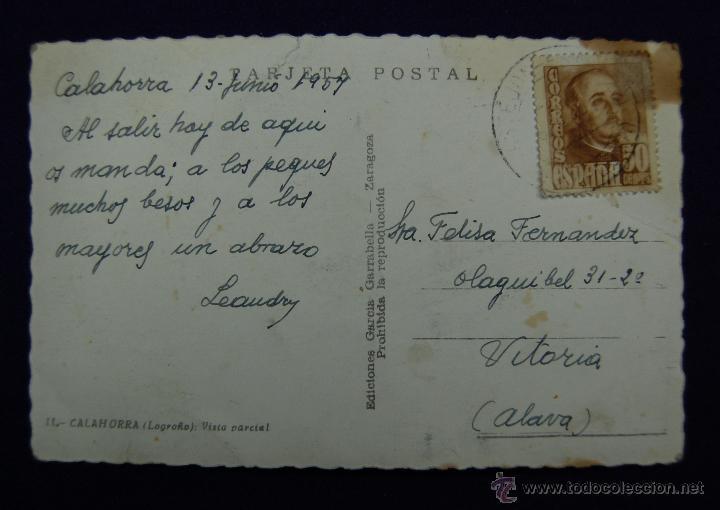 Postales: POSTAL DE CALAHORRA (LA RIOJA). Nº11 VISTA PARCIAL. EDIC GARCIA GARRABELLA-ZARAGOZA. AÑOS 50 - Foto 2 - 46389082