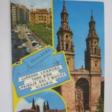 Postales: POSTAL LOGROÑO - BELLEZAS DE LA CIUDAD - 1971 - CIRCULADA - GARCIA GARRABELLA 28. Lote 46495013
