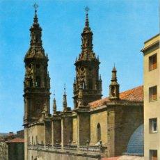 Postales: P1375.- LOGROÑO. CATEDRAL DE SANTA MARIA DE LA REDONDA. Lote 46512724
