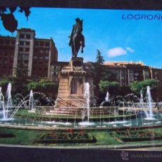 Postales: POSTALES-V29-LOGROÑO-ESTATUA GENERAL ESPARTERO. Lote 46598184