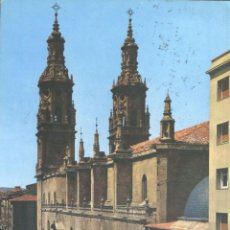 Postales: LOGROÑO - CATEDRAL DE SANTA MARIA DE LA REDONDA. Lote 46887873