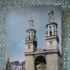 Postales: LOGROÑO, 16 TORRES GEMELAS DE LA REDONDA, COLOREADA.. Lote 47668989