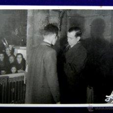 Postales: POSTAL FOTOGRAFICA DE LOGROÑO. AUTORIDADES. EN EL MEDIO EL GOBERNADOR CIVIL DE LOGROÑO. 1945. Lote 48370812