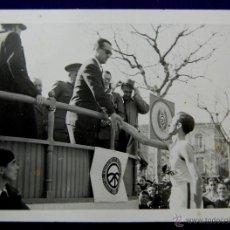 Postales: FOTO DE LOGROÑO. ACTO DE LA OBRA DE EDUCACION Y DESCANSO CON EL GOBERNADOR CIVIL, BALLESTERO. 1945. . Lote 48370925