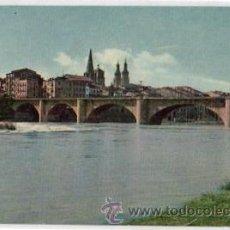 Postales: TARJETA POSTAL LOGROÑO. Nº 3. PAISAJE DEL EBRO Y PUENTE DE PIEDRA. DANIS. AÑO 1960. Lote 48521916