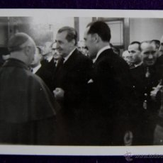 Postales: POSTAL FOTOGRAFICA DE LOGROÑO. OBISPO Y AUTORIDADES.EL GOBERNADOR CIVIL,LUIS MARTIN BALLESTERO. 1945. Lote 49694306