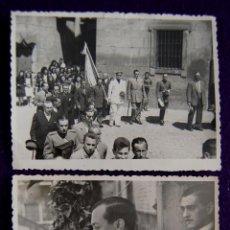 Postales: 2 FOTOS DE LOGROÑO. EL GOBERNADOR CIVIL,LUIS MARTIN BALLESTERO CON TRAJE DE FALANGE. 1945. FOTO PAYA. Lote 49694431