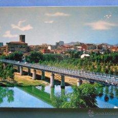 Postales: POSTAL DE LA RIOJA, LOGROÑO. AÑO 1965. VISTA PARCIAL Y PUENTE DE HIERRO. 1329. Lote 50654698