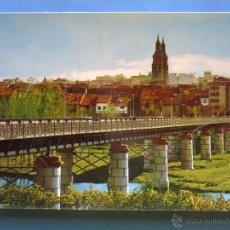 Postales: POSTAL DE LA RIOJA, LOGROÑO. AÑO 1971. VISTA PARCIAL Y PUENTE DE HIERRO. 1330. Lote 50654701