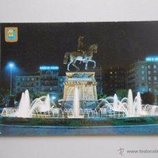 Postales: POSTAL DE LOGROÑO NOCTURNA. ESTATUA DEL GENERAL ESPARTERO Y FUENTE LUMINOSA. TDKP5. Lote 51436804