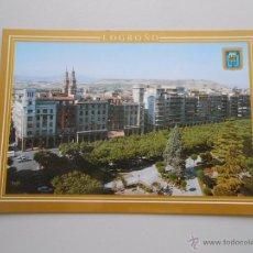 Postales: POSTAL DE LOGROÑO. PASEO DEL ESPOLON. Nº 34. ESCUDO DE ORO. TDKP5. Lote 51437367