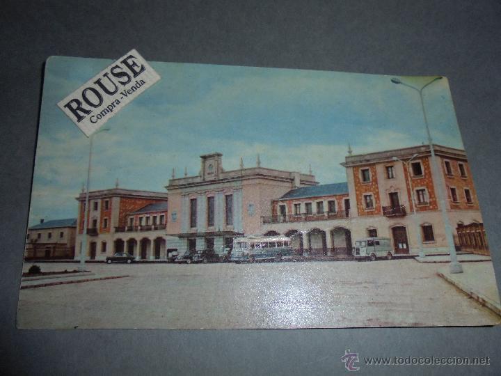 6 .- LOGROÑO LA ESTACION - CIRCULADA 1961 - FOTOCOLOR -14X9 CM. (Postales - España - La Rioja Moderna (desde 1.940))