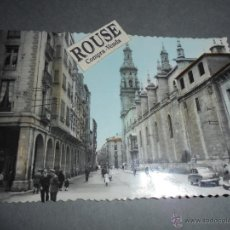 Postales: LOGROÑO - 32 GENERAL M Y SANTA MARIA DE LA REDONDA EDC. SICILIA ,POSTAL ILUMINADA CON ANILINAS CIRCU. Lote 52515632