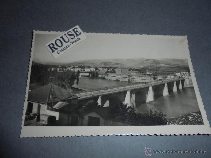 2 - LOGROÑO - VISTA DE LOS PUENTES Y RIO EBRO EDC. JOSECHU - CIRCULADA 1957 - 14X9 CM. (Postales - España - La Rioja Moderna (desde 1.940))